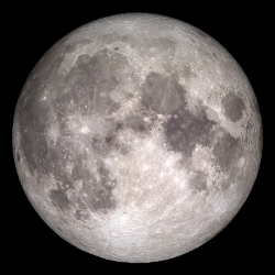 探査機・LROによるイメージ via http://www.nasa.gov/feature/goddard/rare-full-moon-on-christmas-day