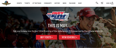 Indianapolis 500 トップページSS画像