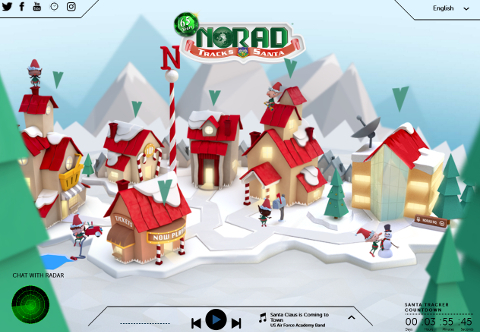 Official NORAD Santa Tracker SS 画像