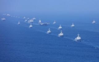 南シナ海・中国・海上パレード・.PNG