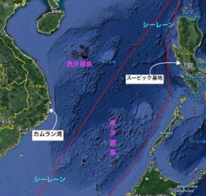 南シナ海・地図・カムラン.JPG