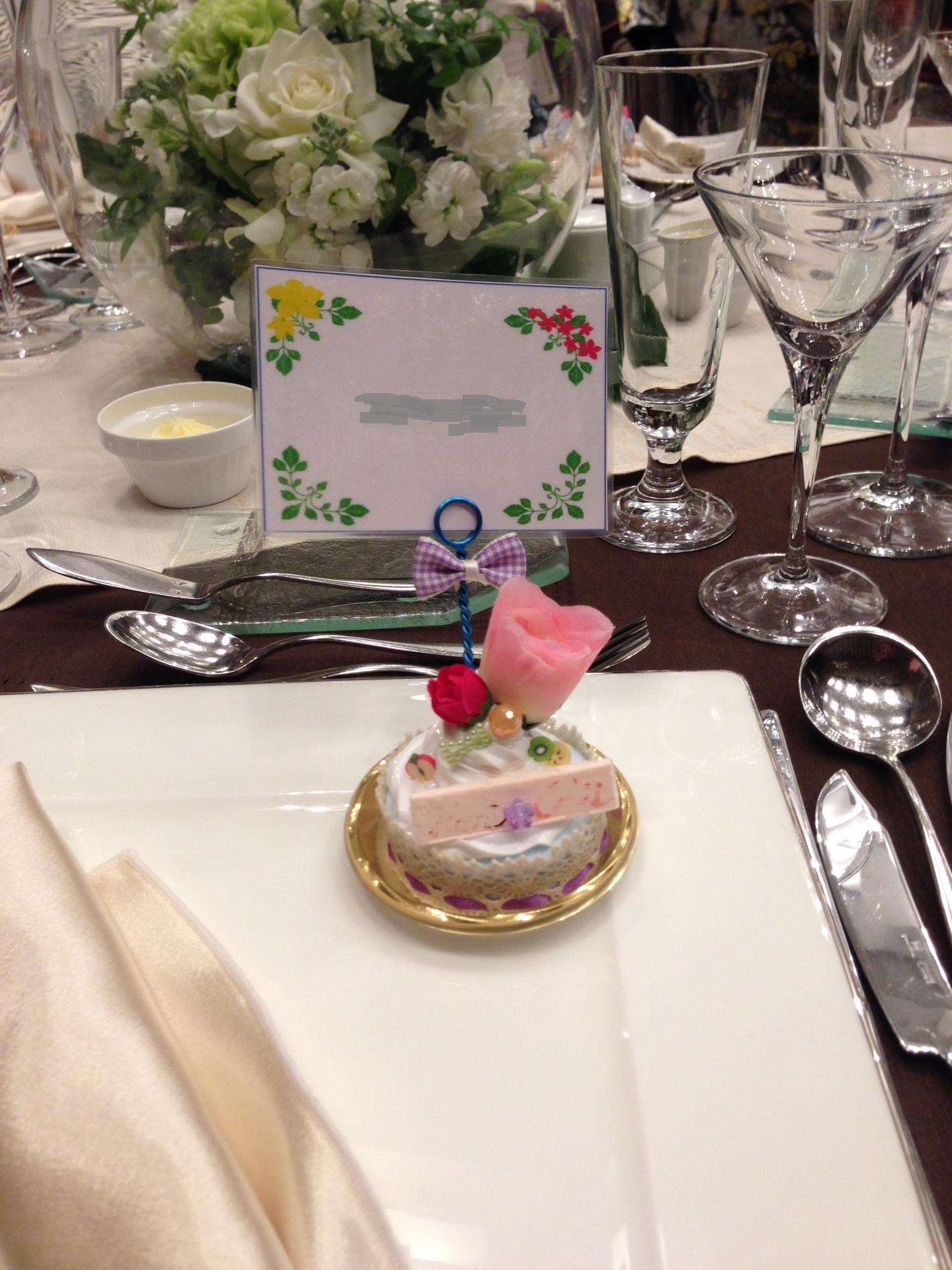Shiosanの工作 娘の結婚式の席札立てをブライダル小物として親からの